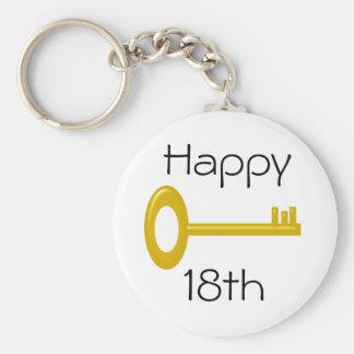 Happy 18th Birthday Keyring Basic Round Button Keychain