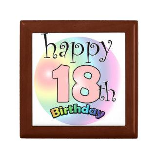 Happy 18th Birthday (pink) Gift Box