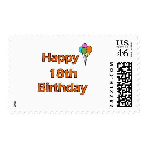 Happy 18th Birthday Postage Stamp
