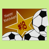 Happy 18th Birthday, Soccer Star! Card