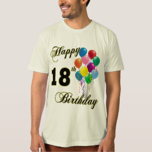 Happy 18th Birthday T Shirt With Balloons