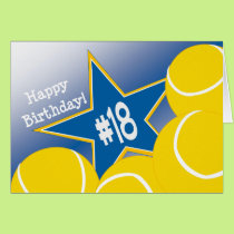 Happy 18th Birthday, Tennis Star! Card