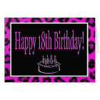 Happy 18th Birthday With Hot Pink Leopard Spots Card