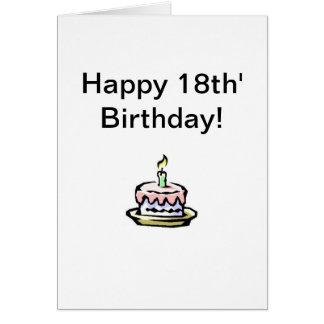 Happy 18th! greeting card