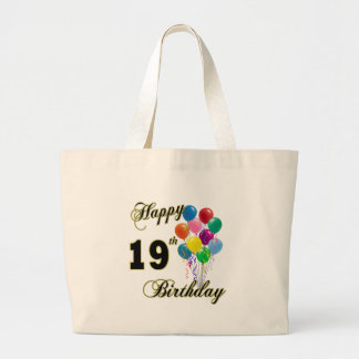 Happy 19th Birthday Merchandise Large Tote Bag