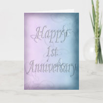 Happy 1st Anniversary  (anniversary card) Card