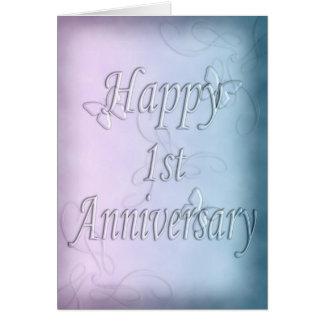 Happy 1st Anniversary  (anniversary card) Card