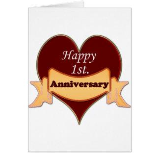 Happy 1st. Anniversary Card