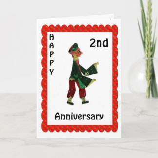 Happy 1st Anniversary Card