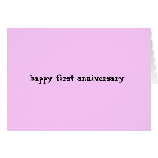 Happy 1st Anniversary Greeting Cards