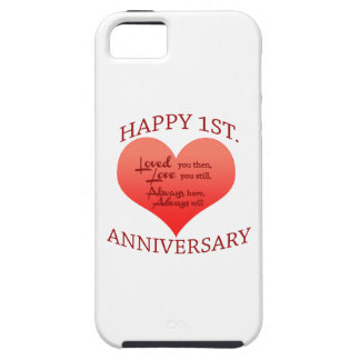 Happy 1st. Anniversary iPhone SE/5/5s Case