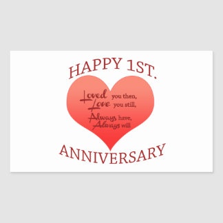 1 Yr Anniversary Ideas