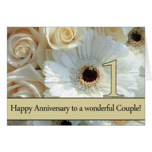 A happy 1st wedding anniversary roses cards greeting photo cards happy 1st anniversary roses card m4hsunfo