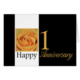 Happy 1st Anniversary roses Card