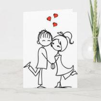 "HAPPY ***1st ANNIVERSARY*** TO MY ""LOVE"" Card"