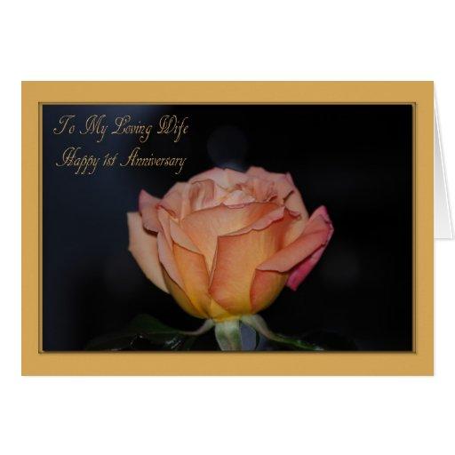 Happy st anniversary wife card zazzle