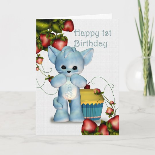 Happy 1st Birthday Boy Card Zazzle