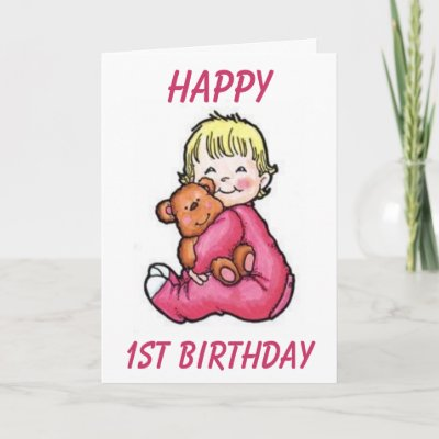 Happy, 1st Birthday Greeting Cards by pastormullins