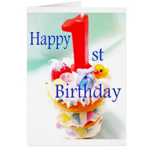 Happy 1st Birthday Card