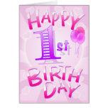 Happy 1st Birthday Cards