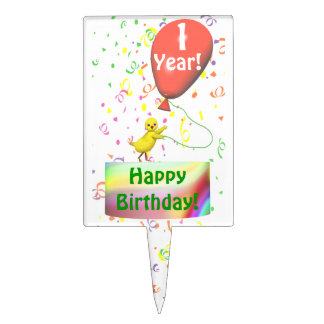 Happy 1st Birthday Chicken Cake Topper