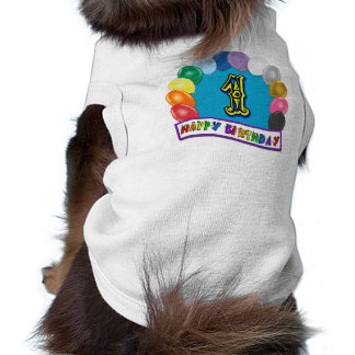 Happy 1st Birthday Dog Shirt