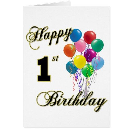 Happy 1st Birthday Greeting Card Zazzle Happy 1st Birthday Wishes