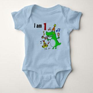 Happy 1st Birthday ( I am 1 ) Baby Bodysuit