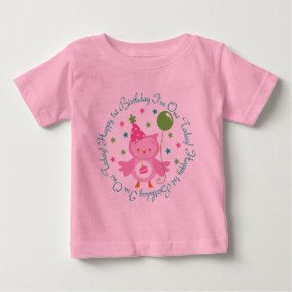 Happy 1st Birthday I'm One Today Owl Baby T-Shirt