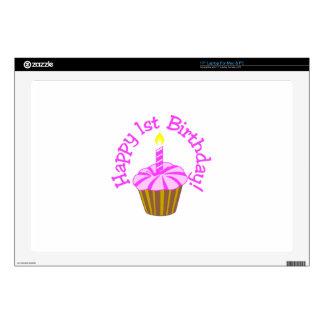 Happy 1st Birthday Laptop Decals