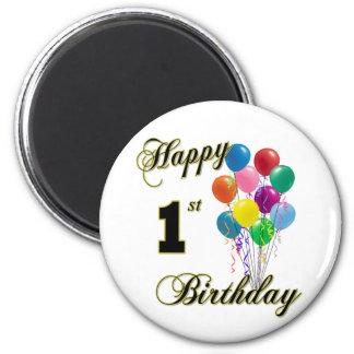 Happy 1st Birthday Magnet and Birthday Apparel