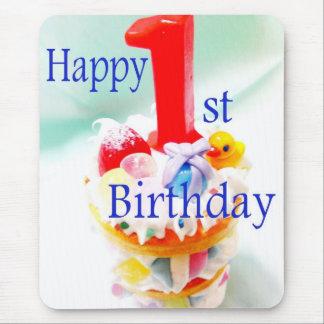 Happy 1st Birthday Mouse Pad