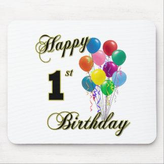 Happy 1st Birthday Mousepad and Birthday Apparel