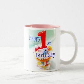 Happy 1st Birthday Two-Tone Coffee Mug