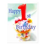 Happy 1st Birthday Postcard