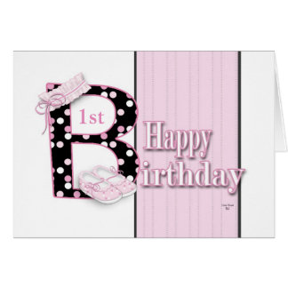 Happy 1st Birthday Princess Card