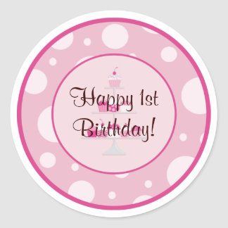 Happy 1st Birthday Sticker