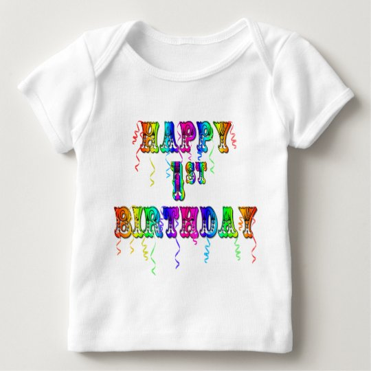 Happy 1st Birthday T-Shirt and