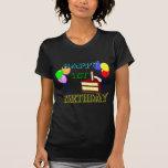 Happy 1st Birthday T-Shirt with Birthday Cake