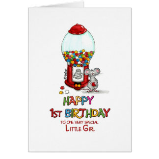 Happy 1st Birthday to one very special little girl Greeting Card