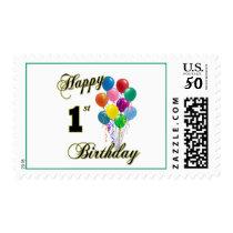 Happy 1st Birthday US Postage Stamp