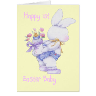 Happy 1st Easter Baby (Girl) Card (Blank)