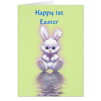 Happy 1st Easter with bunny baby's first easter Card