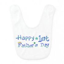 Happy 1st Father's Day Baby Bib