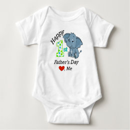 Happy 1st Father's Day Baby Bodysuit