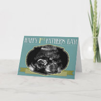 Happy 1st Father's Day - Custom Ultrasound / Photo Card