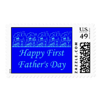 Happy 1st Father's Day Dad Best Dad Daddy Pop Pa Postage Stamps