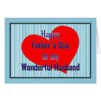 HAPPY 1ST FATHER'S DAY TO HUSBAND FROM WIFE - FIRS GREETING CARD