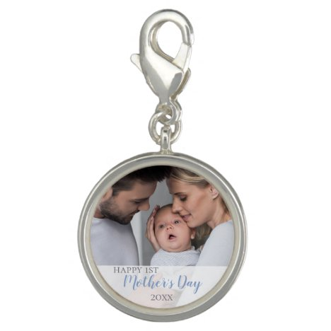 Happy 1st Mothers Day 2021 Baby Boy Photo Charm