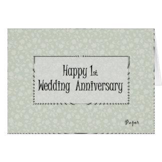 Happy 1st. Wedding Anniversary Card